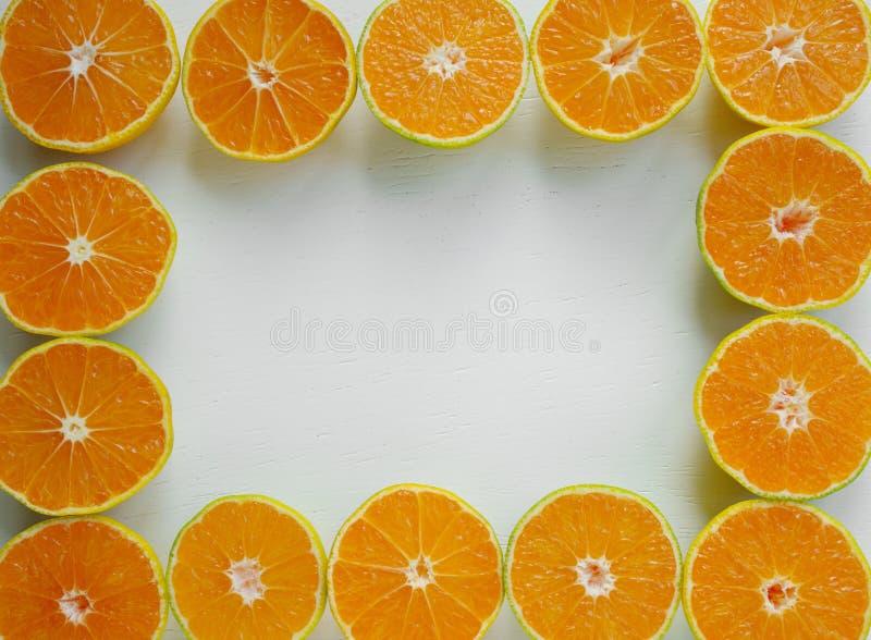 quadro do fruto da tangerina foto de stock royalty free