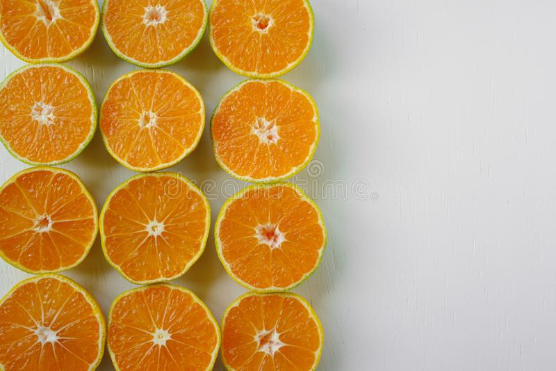 quadro do fruto da tangerina fotos de stock