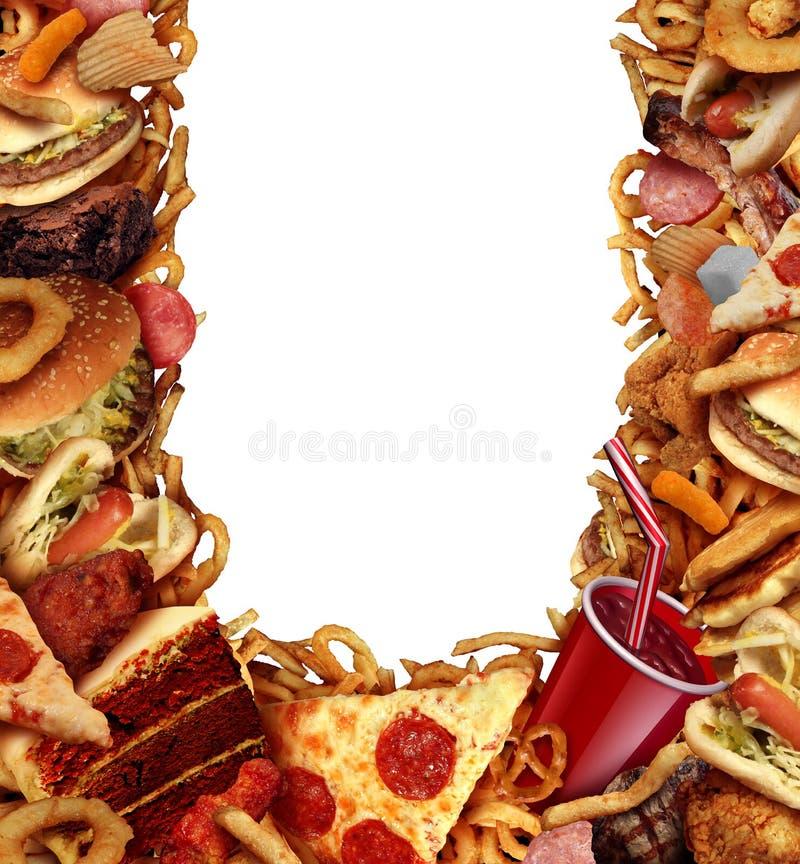 Quadro do fundo da comida lixo ilustração do vetor