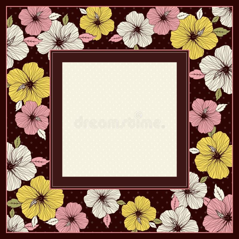 Quadro do hibiscus, vetor ilustração stock