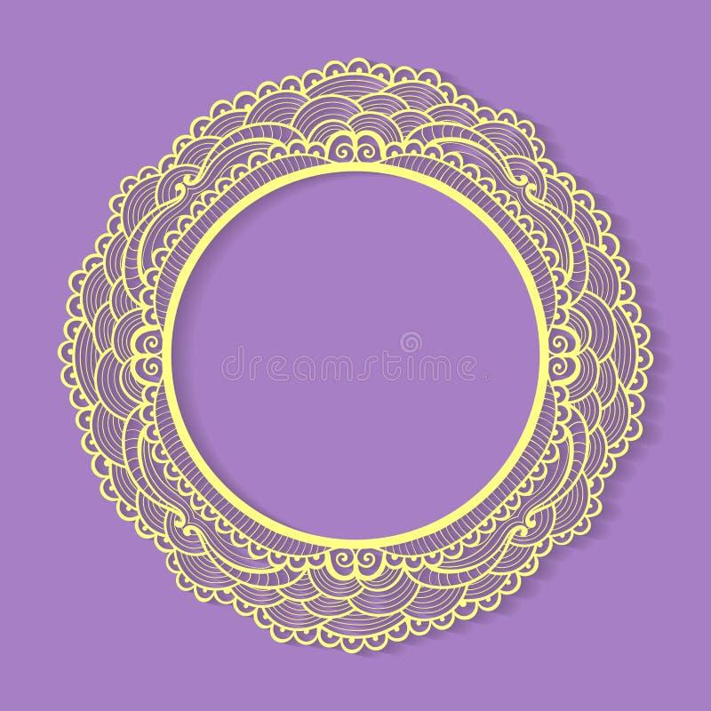 Quadro do laço do círculo do vetor ilustração stock