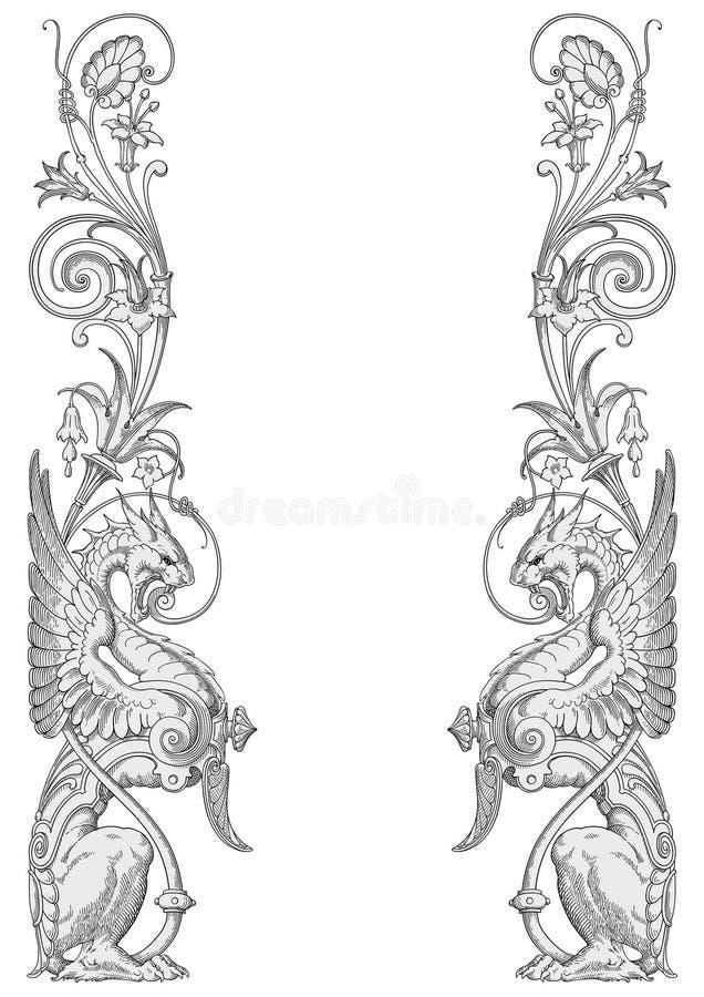 Quadro do leão ilustração royalty free