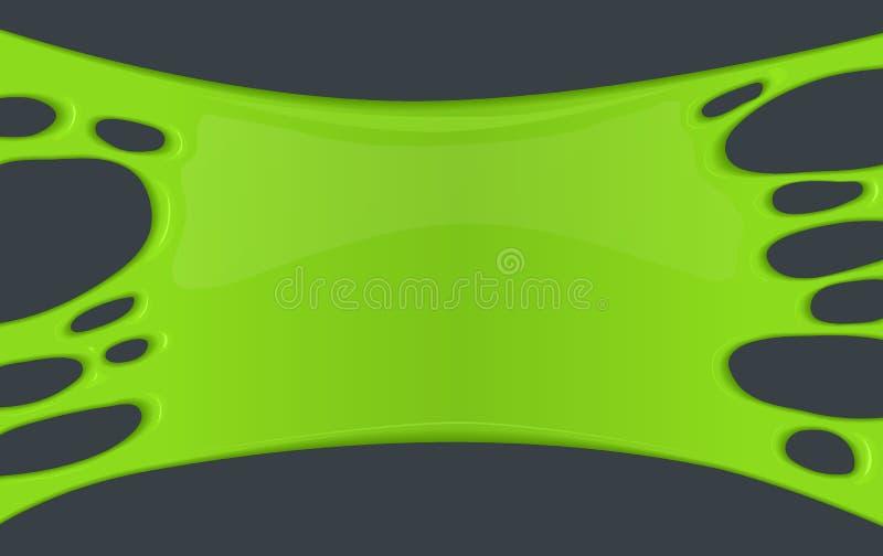 Quadro do limo pegajoso verde ilustração do vetor