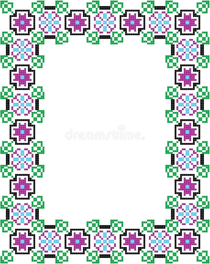 Quadro do mosaico ilustração royalty free