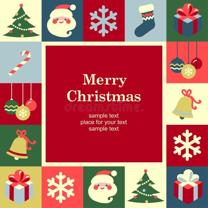 Quadro do Natal ilustração stock
