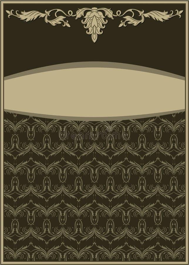 Quadro do ornamento do vintage ilustração royalty free