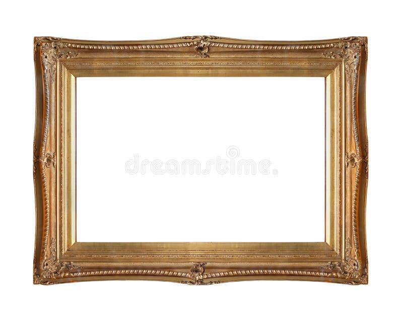 Quadro do ouro cinzelado imagens de stock royalty free