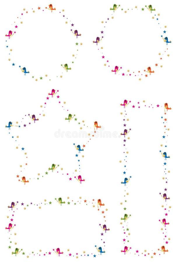 Quadro do pássaro da estrela ilustração royalty free