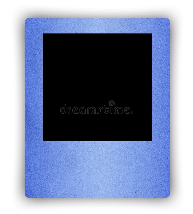 Quadro do papel azul no branco fotografia de stock