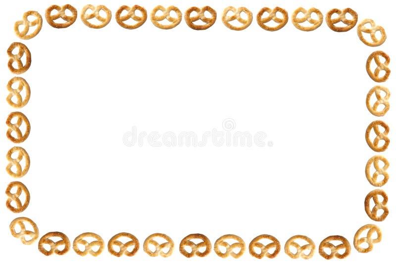 Quadro do pretzel fotos de stock