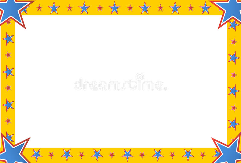 Quadro do quadrado da estrela do circo ilustração do vetor