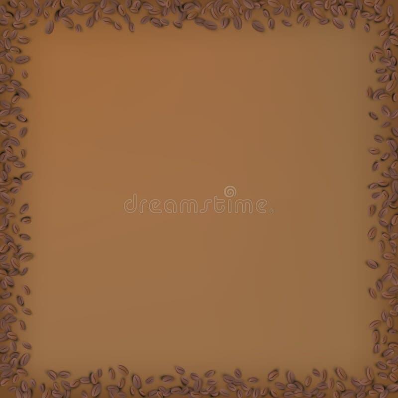 Quadro do quadrado do feijão de Coffe ilustração do vetor