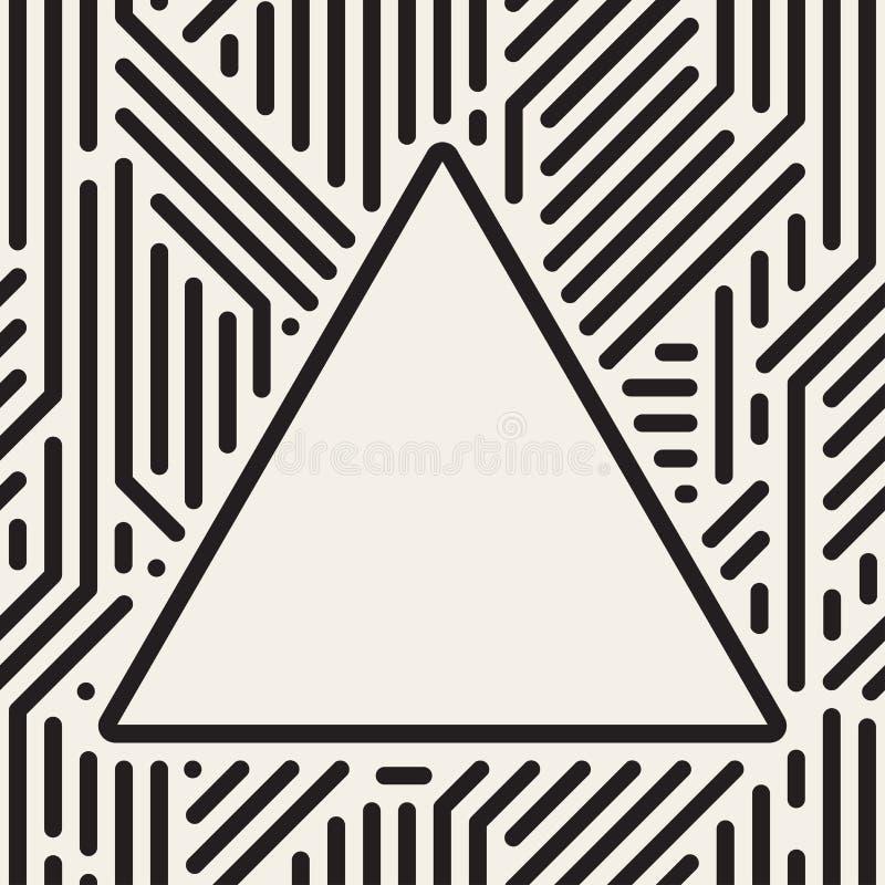 Quadro do triângulo do vetor teste padrão sem emenda geométrico ilustração royalty free