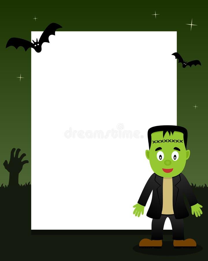 Quadro do vertical de Frankenstein Dia das Bruxas ilustração do vetor