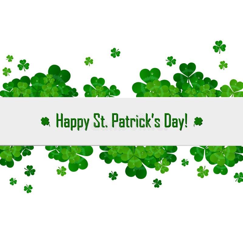 Quadro do vetor do dia do ` s de St Patrick com trevo verde ilustração do vetor