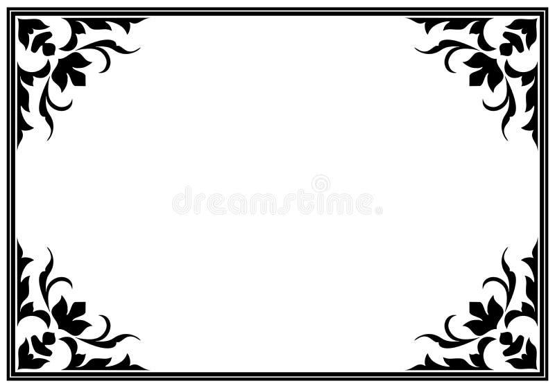 Quadro do vetor do vintage ilustração do vetor