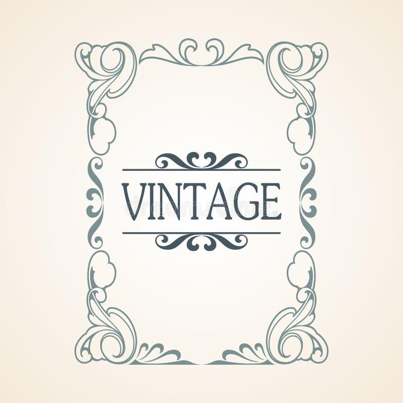 Quadro do vintage do vetor ilustração stock