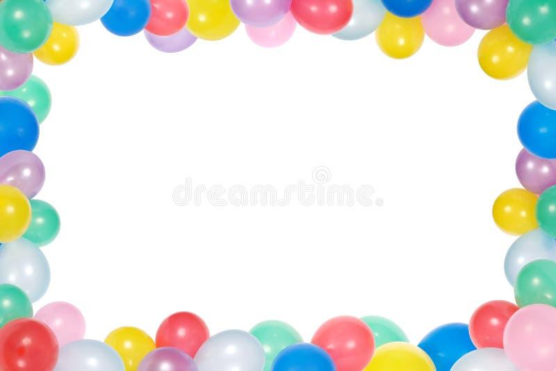 Quadro dos balões isolados no fundo branco fotografia de stock
