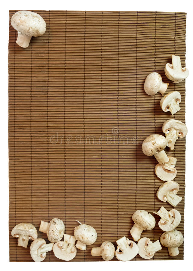 Quadro dos cogumelos foto de stock royalty free