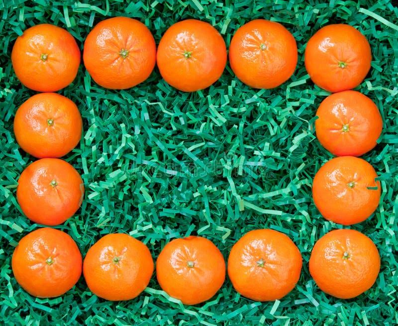 Quadro dos mandarino frescos imagem de stock
