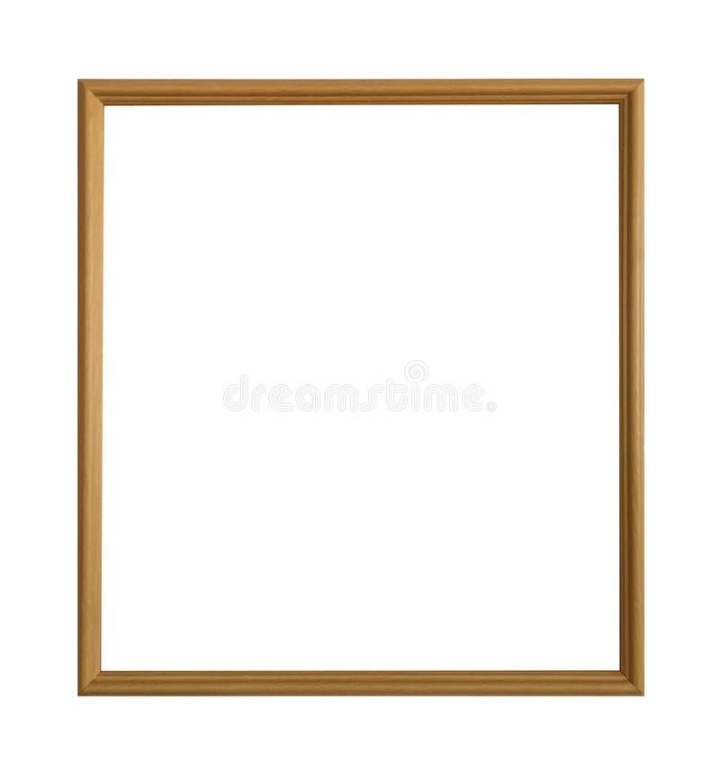 Quadro dourado antigo isolado no fundo branco com trajeto de grampeamento imagem de stock
