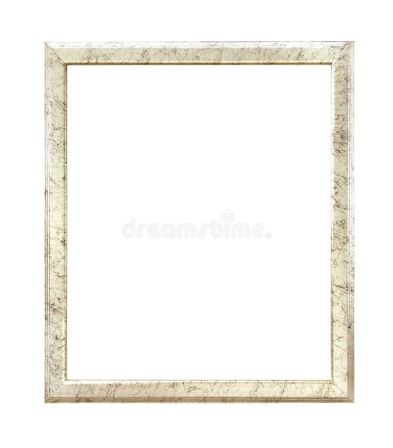 Quadro dourado antigo isolado no fundo branco com trajeto de grampeamento imagens de stock royalty free