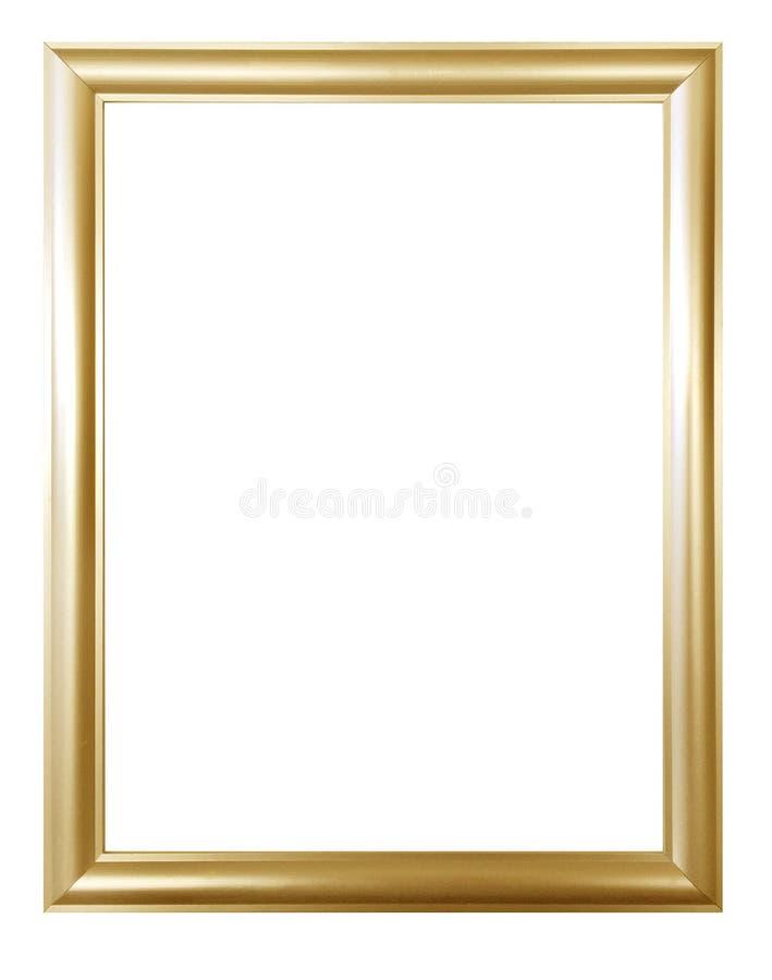 Quadro dourado antigo isolado no fundo branco com trajeto de grampeamento Arte europeia fotos de stock
