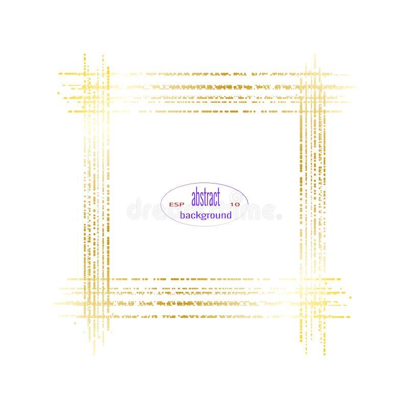 Quadro dourado do inclinação no fundo branco Ilustração isolada do vetor ilustração stock