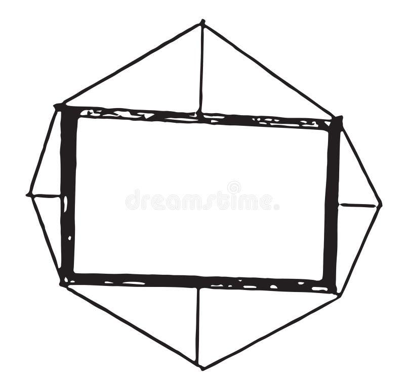 Quadro e beira simples para fotos fotografia de stock