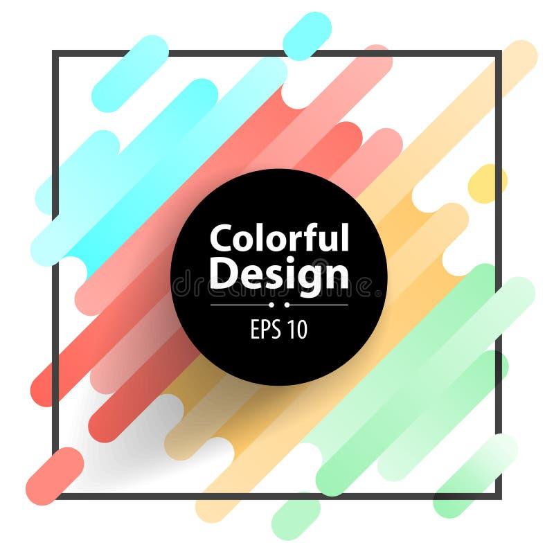 Quadro e sumário moderno colorido do estilo ilustração stock
