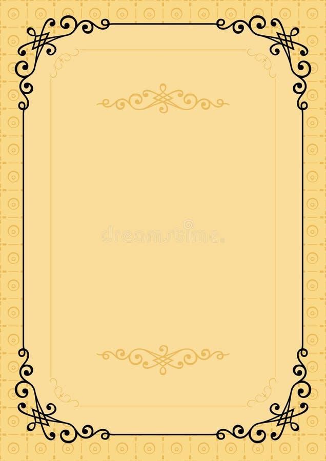 Quadro elegante do vetor ilustração stock