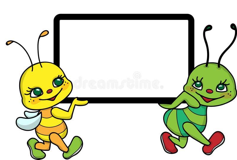 Quadro engraçado para crianças ilustração do vetor