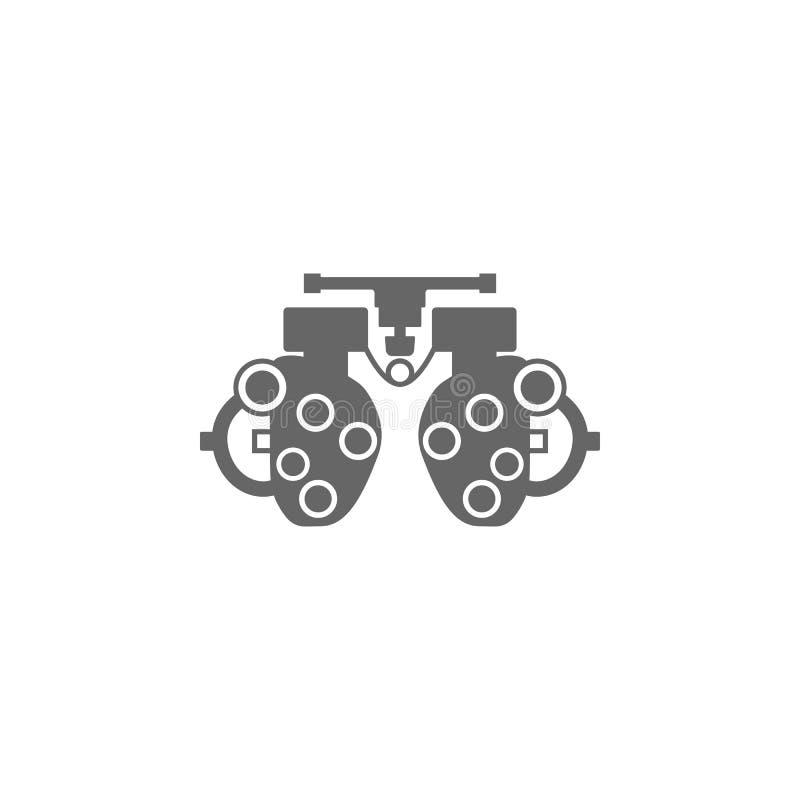 Quadro experimental para verificar a ilustração simples do elemento do ícone paciente da visão Projeto do símbolo da coleção médi ilustração stock