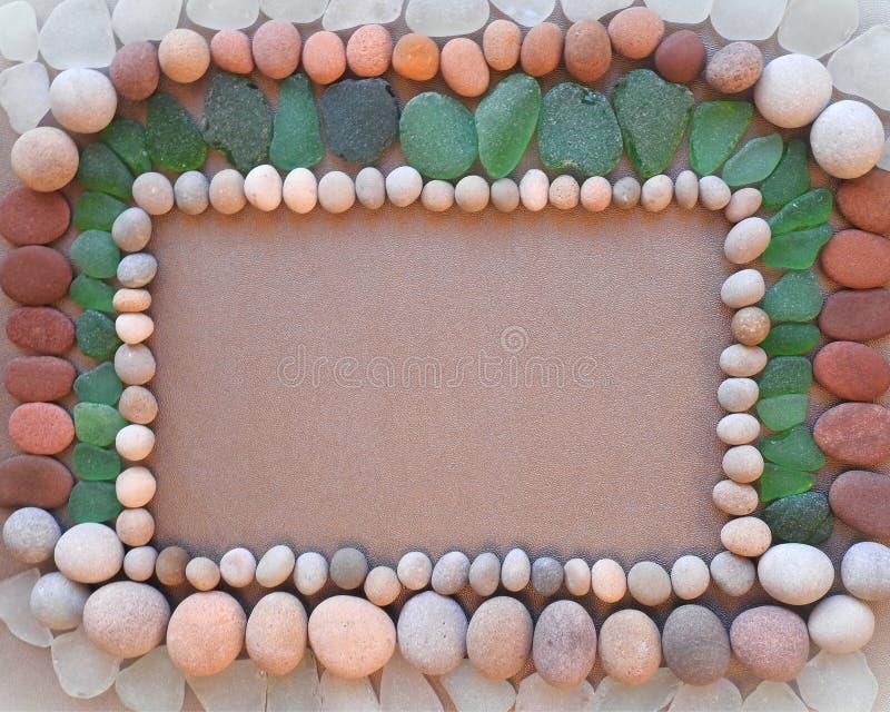 Quadro feito com diferentes cores, pedra e classe, Lituânia imagem de stock royalty free