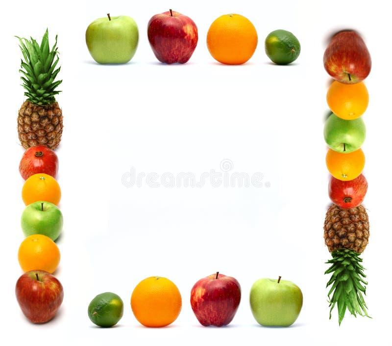 Quadro feito da fruta fresca fotos de stock