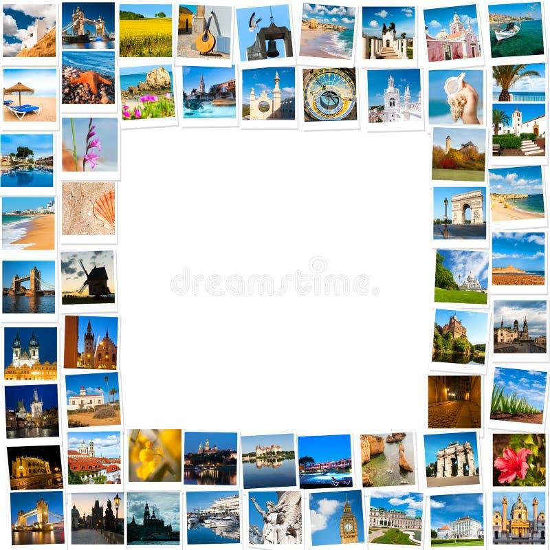 Quadro feito de imagens do curso fotografia de stock
