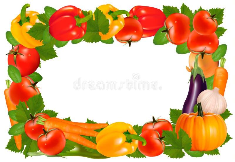 Quadro feito dos vegetais ilustração do vetor