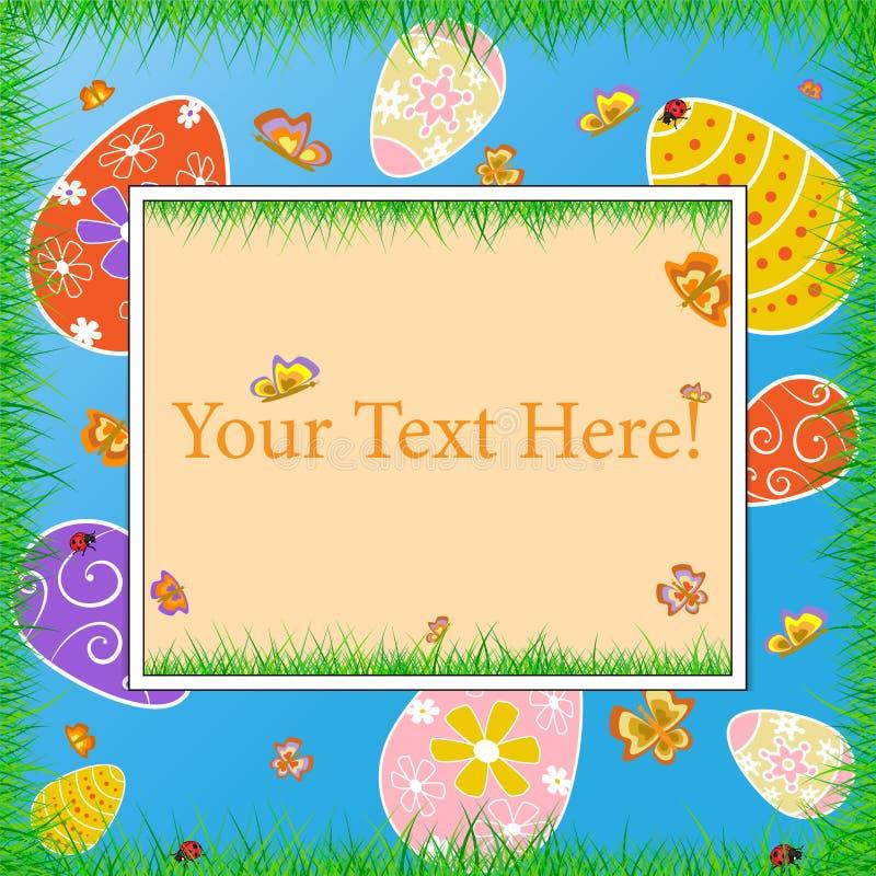 Download Quadro feliz da Páscoa ilustração do vetor. Ilustração de bonito - 65578906