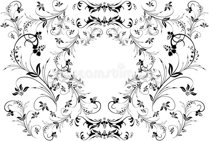 Quadro floral abstrato ilustração do vetor