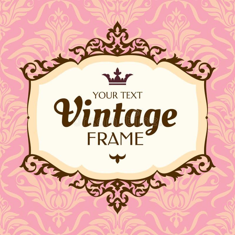 Quadro floral do vintage ilustração royalty free