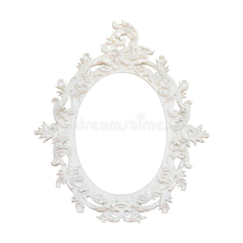Quadro floral do vintage isolado no fundo branco fotos de stock