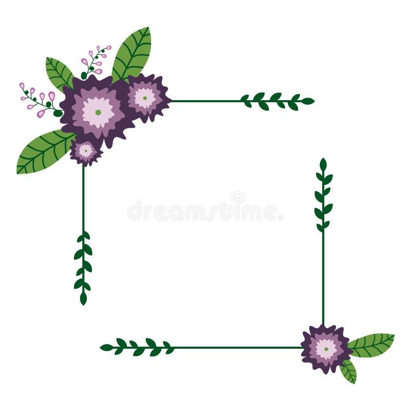 Quadro floral quadrado ilustração stock