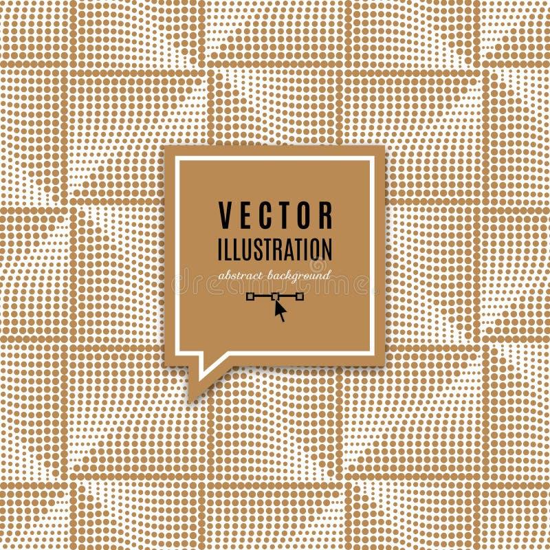 Quadro geométrico com efeitos da luz, teste padrão sem emenda do ouro do quadrado dourado elegante Fundo abstrato do ouro para o  ilustração royalty free