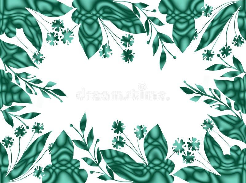 Quadro geométrico floral decorativo com flores Cores brilhantes ilustração royalty free