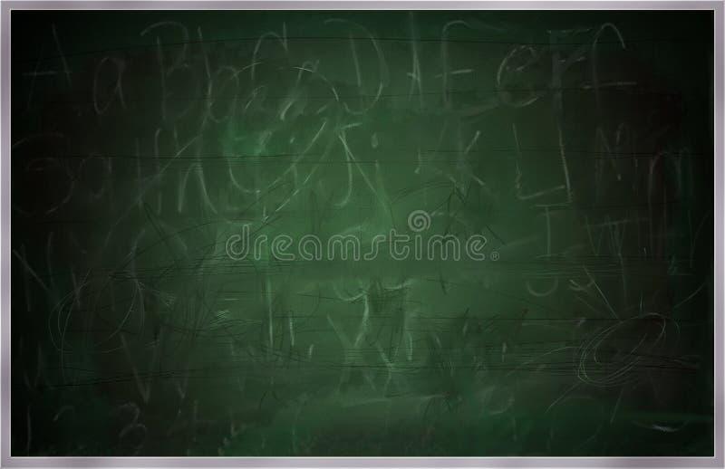 Quadro, Greenboard ou quadro-negro da velha escola ilustração do vetor