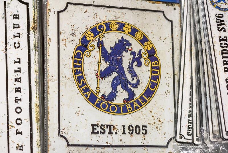 Quadro indicador da lembrança com o emblema de FC Chelsea fotos de stock