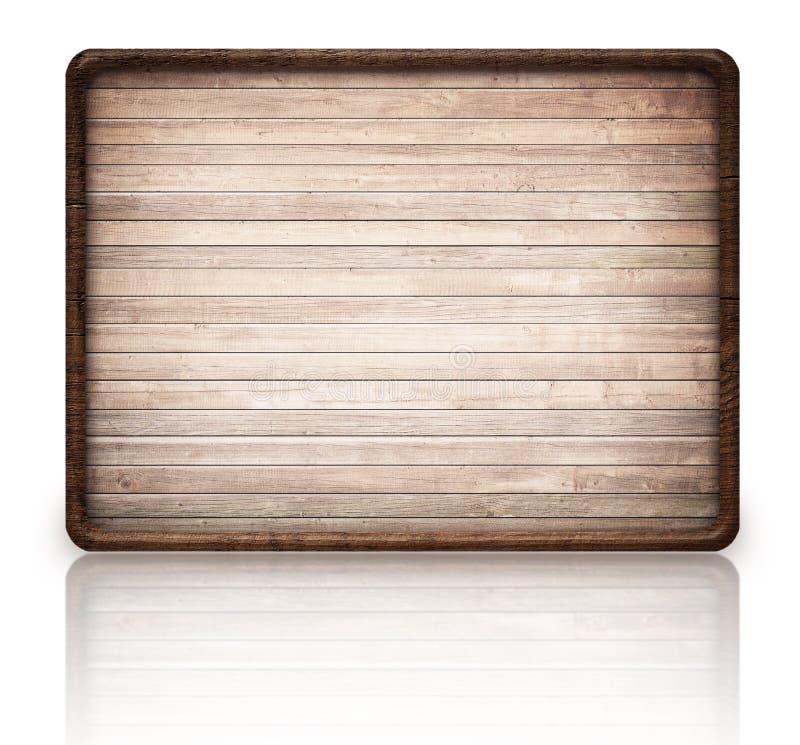 Quadro indicador de madeira e reflexão do retângulo de Brown sobre fotografia de stock royalty free