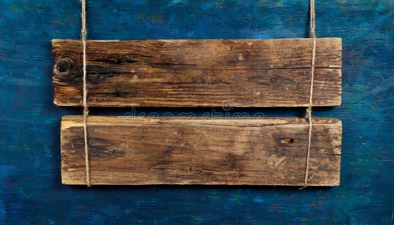 Quadro indicador de madeira em branco fotografia de stock