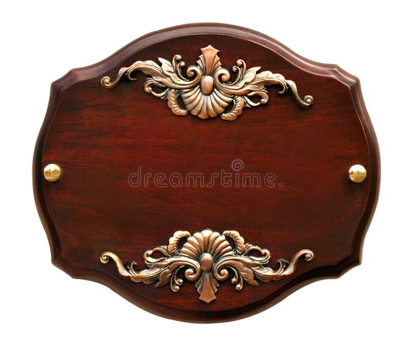 Quadro indicador de madeira grande isolado imagens de stock royalty free