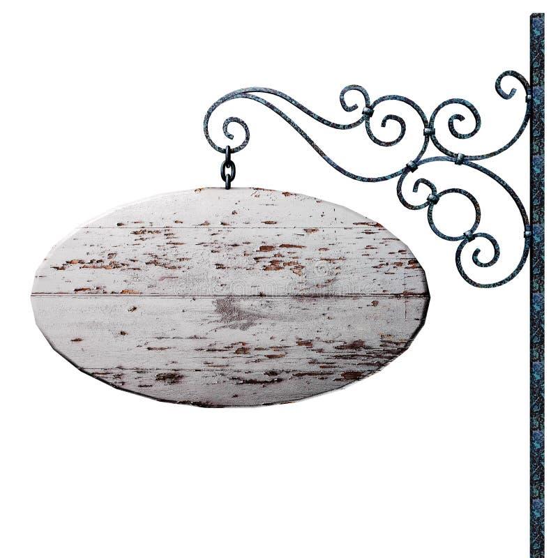 Quadro indicador de madeira velho. ilustração royalty free
